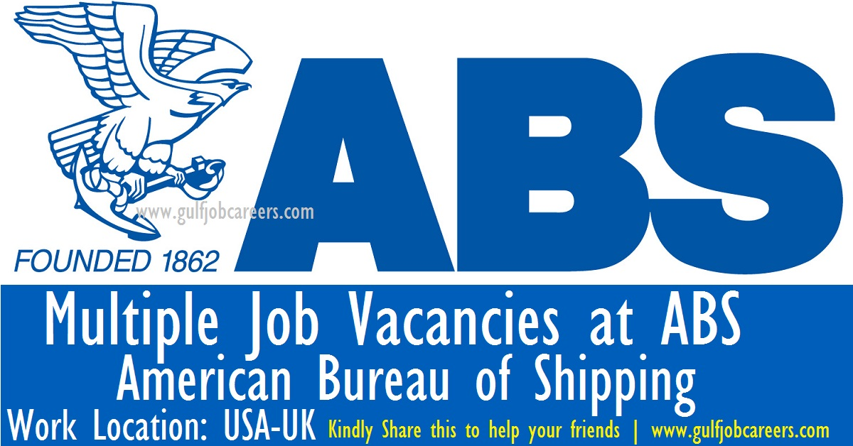 multiple job vacancies at abs american bureau of shipping. Black Bedroom Furniture Sets. Home Design Ideas