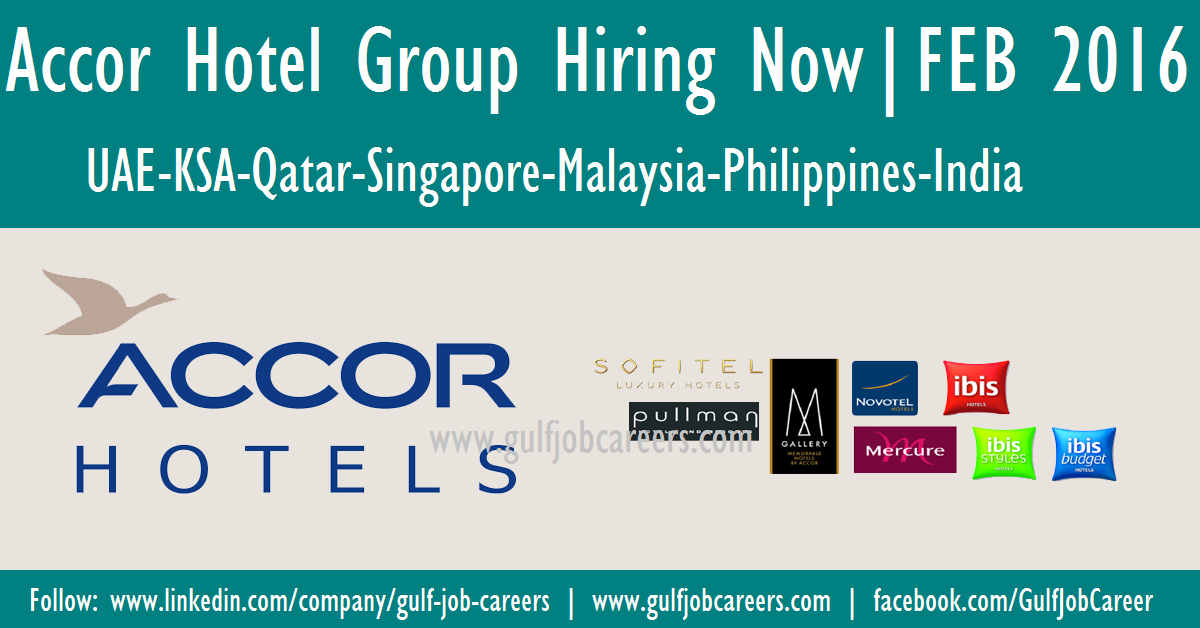 Accor Hotel Group Hiring Now All Location