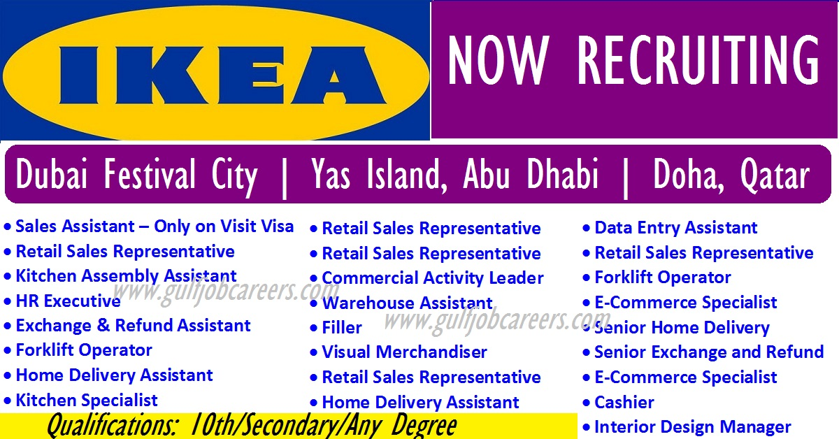 new job vacancies at ikea dubai abu dhabi doha