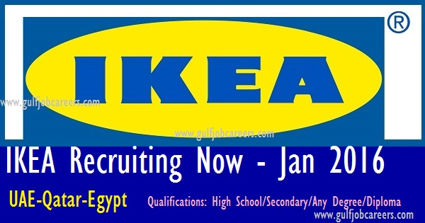 Ikea recruiting now uae qatar egypt Ikea security jobs