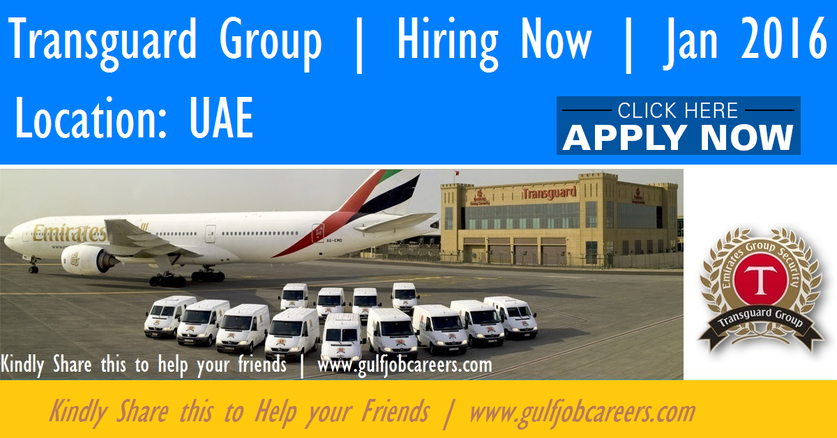 Transguard Group Hiring Now Dubai