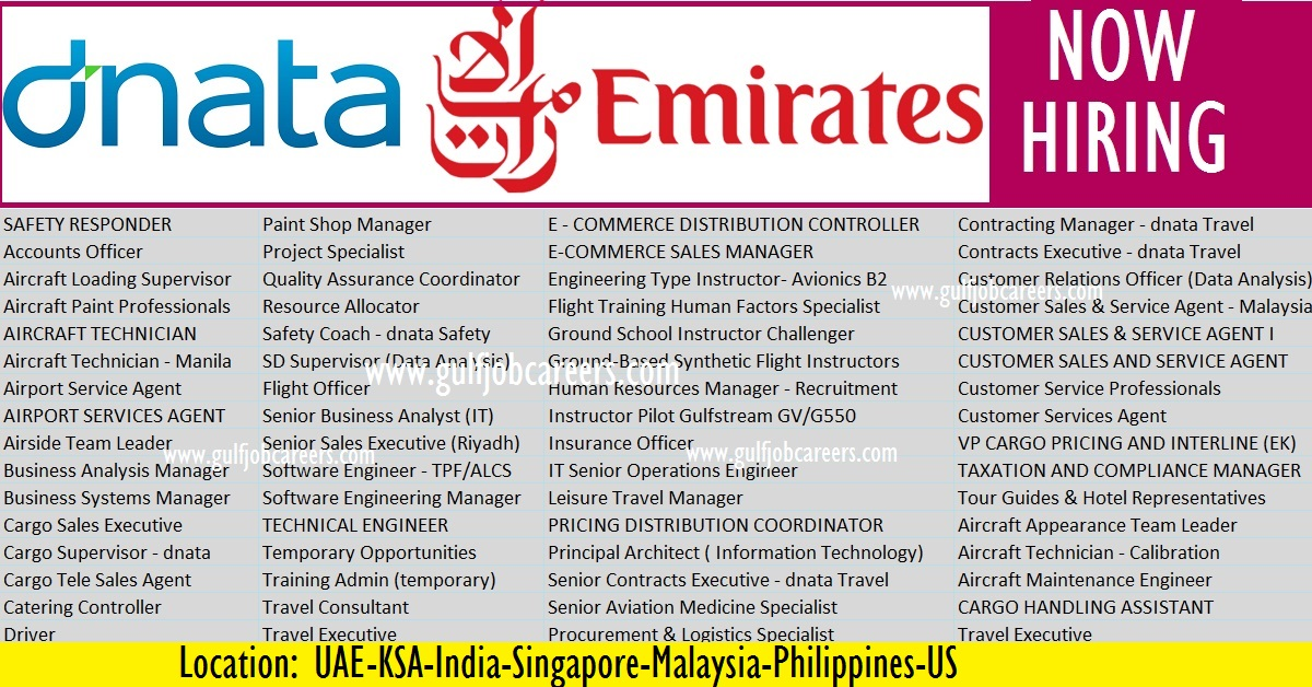 Emirates Group Careers Opportunities