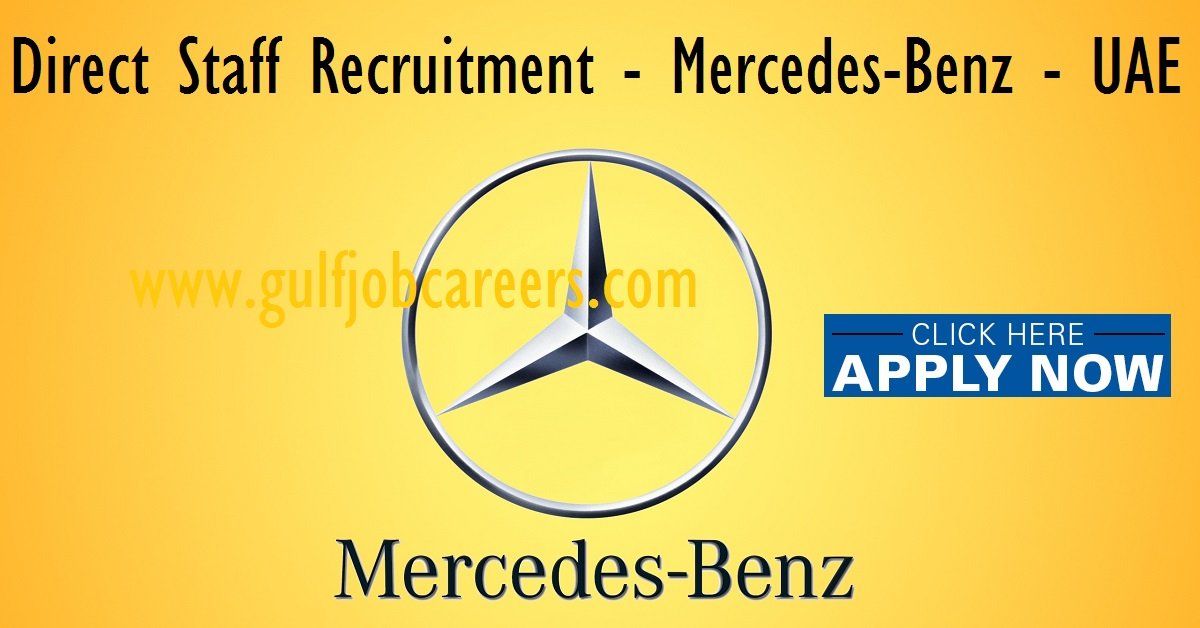 Job vacancies at mercedes benz uae for Mercedes benz career