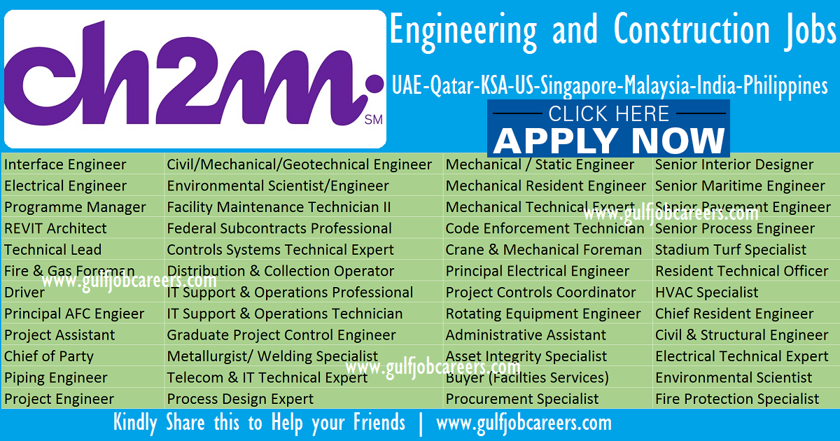 Engineering And Construction Jobs At Ch2m Worldwide Jobs