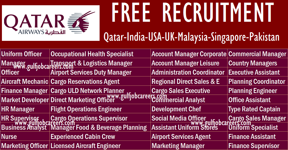 Qatar Airways Recruitment 2019 Qatar India Usa Uk