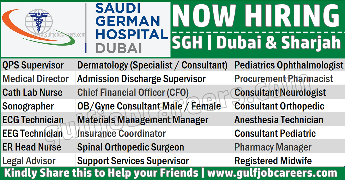 Saudi German Hospital Sgh Job Vacancies Dubai Amp Sharjah