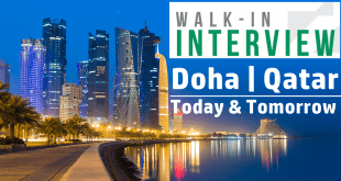walk in interview in qatar