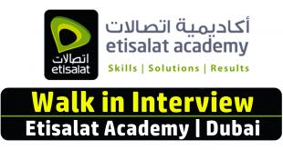 Etisalat Academy Jobs