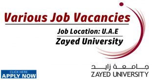 Zayed University Careers