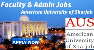 American University of Sharjah Jobs