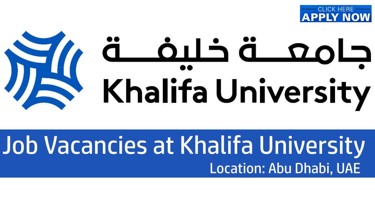 Khalifa University Jobs