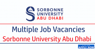 Sorbonne University Abu Dhabi Careers