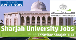 University of Sharjah Jobs