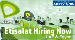ETISALAT JOB vacancy