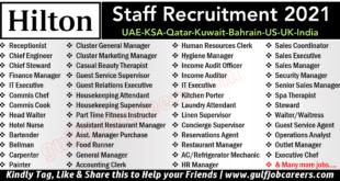 Hilton Hotel Job Vacancies