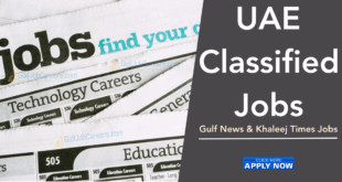 Gulf News Classified Jobs Dubai