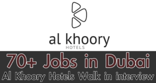 Al Khoory Hotels Careers