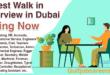 walk in interview in dubai