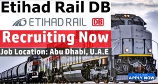 Etihad Rail DB Job Vacancies